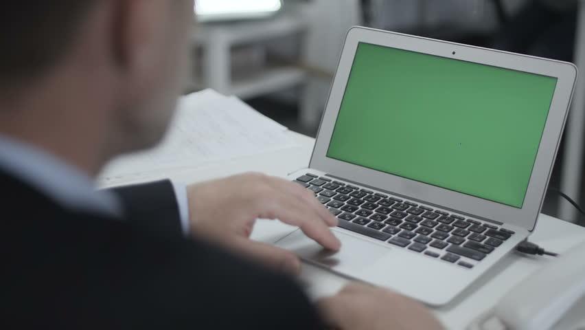 Man Uses Laptop In The Office | Shutterstock HD Video #17935357