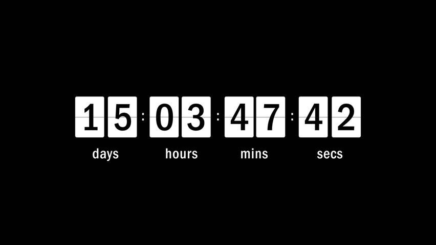 Timer calendar date motion graphics | Shutterstock HD Video #17984017