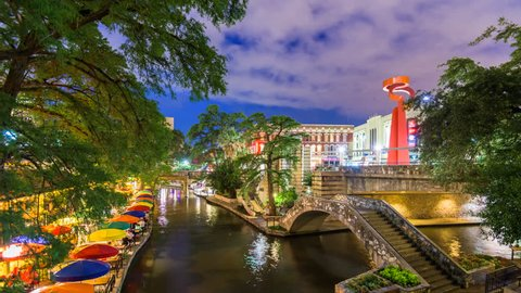 San Antonio, Texas, USA cityscape at the River Walk.