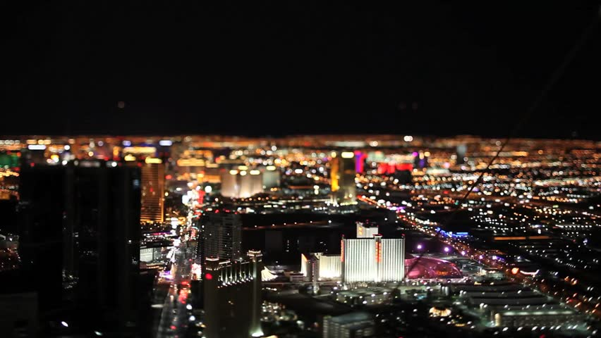 Las Vegas Night birds view Tilt Shift Timelapse | Shutterstock HD Video #18011077
