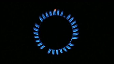 Gas burner from the top [slow motion]