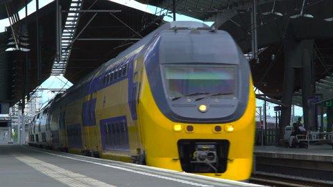 Dutch double decks Train passing at Bijlmer station, 14 July 2016
