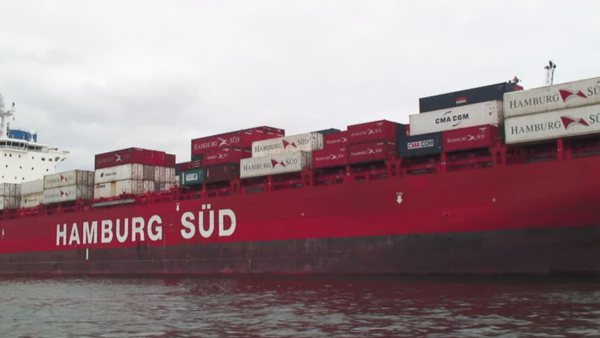 VALPARAISO, CHILE -  CIRCA 2010: Container ship in the Valparaiso seaport, Chile