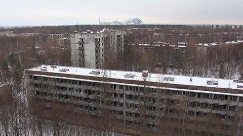 Chernobyl, pripyat, reactor. winter. 2014