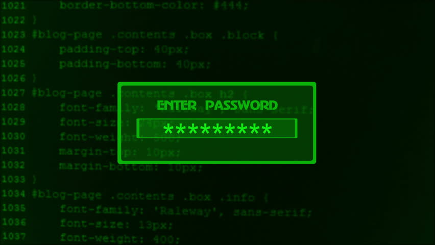 Animation of entering password on computer screen with access Granted message | Shutterstock HD Video #18173878