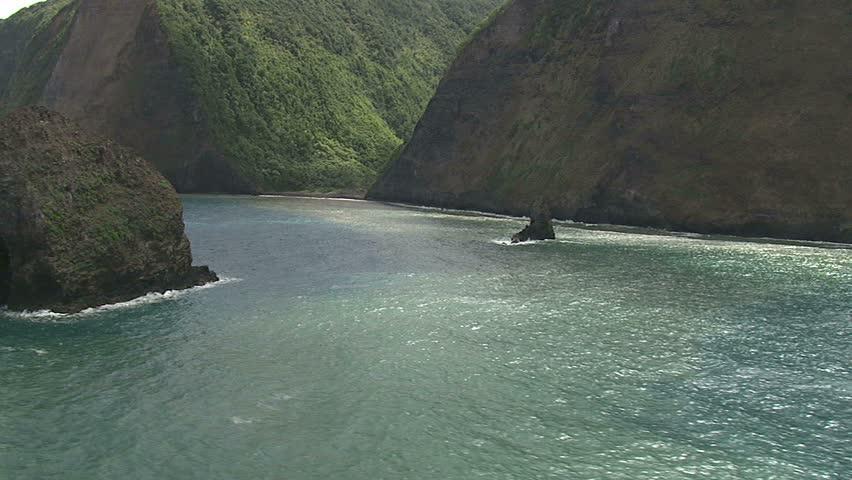 Spectacular valleys along northeastern coast of Hawaii Island