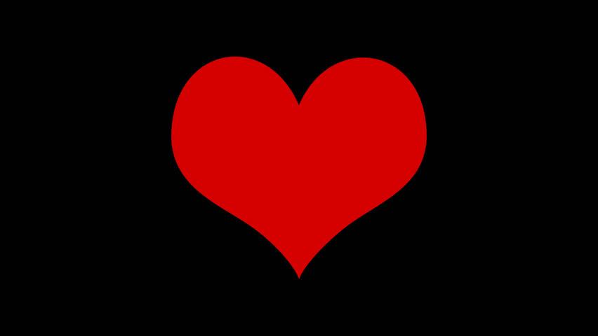 High Definition. A Broken Heart Animation On Black ...