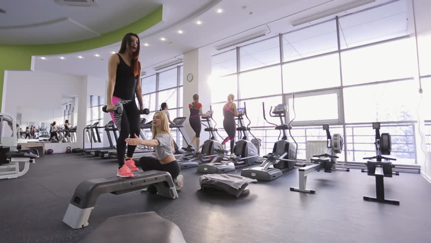 Fitnessraum modern  02545 Interior Of Modern Fitness Gym Health Club Stock Footage ...