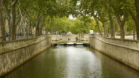 Canal to Jardin des Fontains, Nimes France