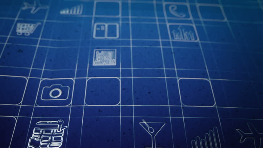 Mobile App Development Blueprint Concept