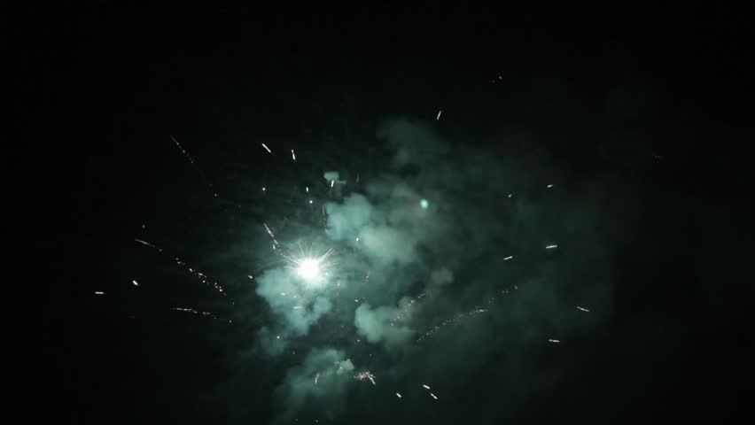 Colorful fireworks on the black sky of night 69  | Shutterstock HD Video #18432907