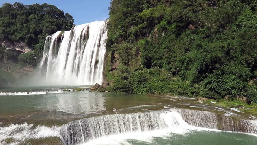Huangguoshu Waterfall (Yellow-Fruit Tree Waterfalls) is one of the largest waterfalls in  China and East Asia located on the Baishui River in Anshun, Guizhou province.