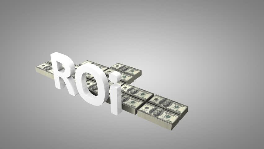 Return on investment (ROI) concept animation.