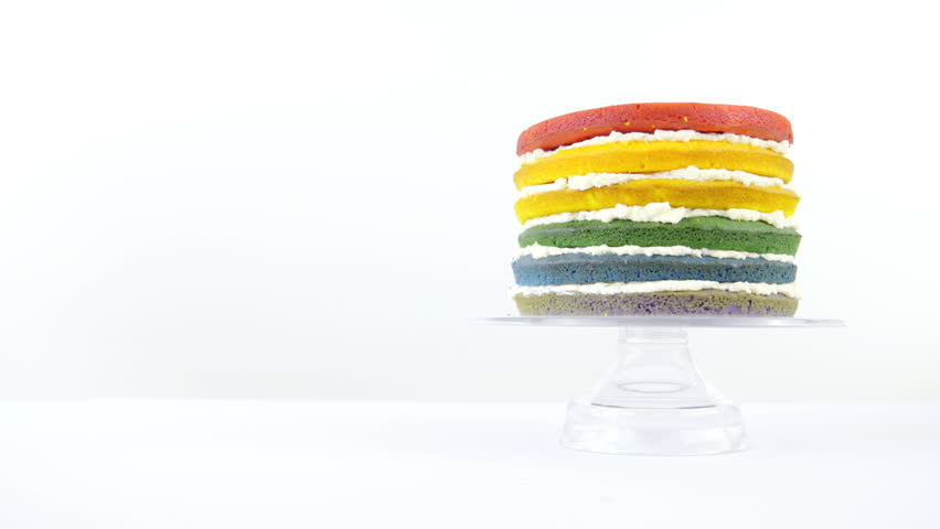 Colorful Glass Cake Stand