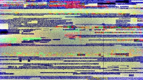 Colored Noise Glitch Grain Video Damage