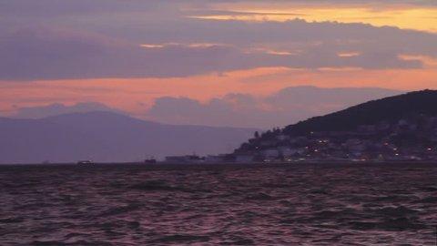 Istanbul Islands in close up view. Left to right Heybeli, Burgaz, Kinali Adalar