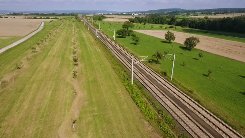 ICE highspeed train railroad track