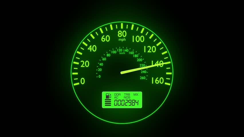 100 Kph To Mph >> Speedometer Fast Car Automobile Speed Stok Video 100 Telifsiz