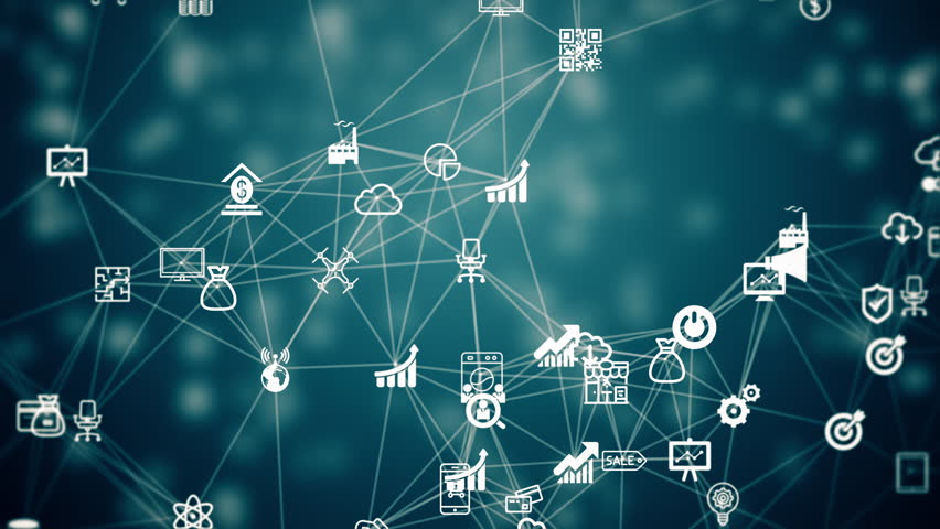 Internet of things, background from the chaotically slow moving connected things | Shutterstock HD Video #18731597