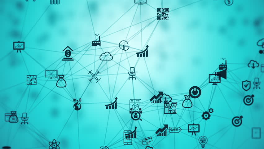 Internet of things, background from the chaotically slow moving connected things | Shutterstock HD Video #18731600