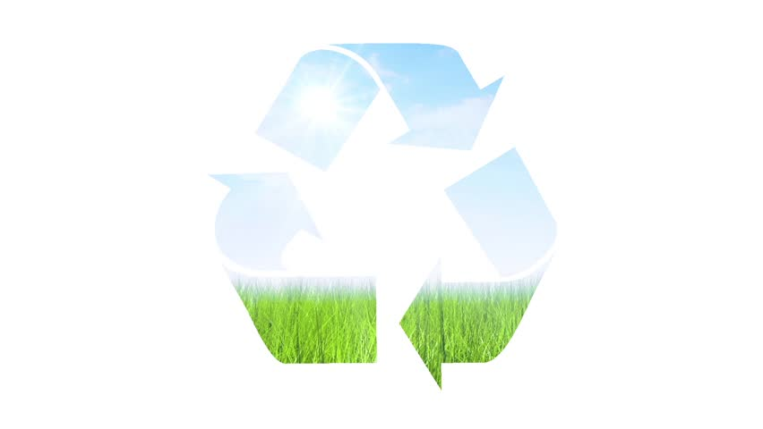 Stock Video Clip Of Recycling Symbol Animation Shutterstock