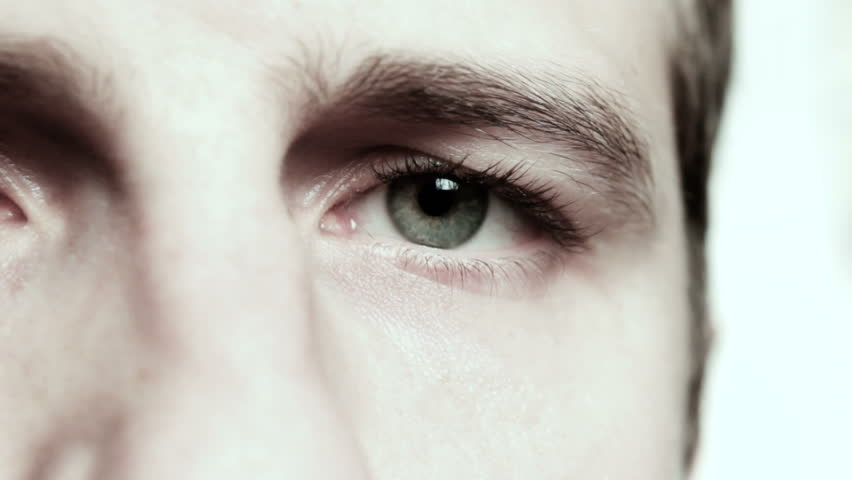 Male Eye close up color effect