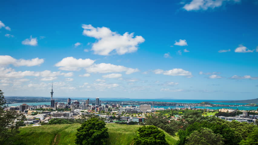 Time Lapse - Ariel View of Downtown Auckland, New Zealand | Shutterstock HD Video #18764435