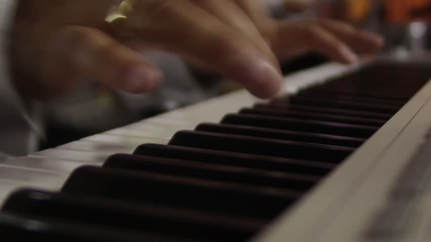 Hands of a pianist singing at a private party or concert 8498  #18775757
