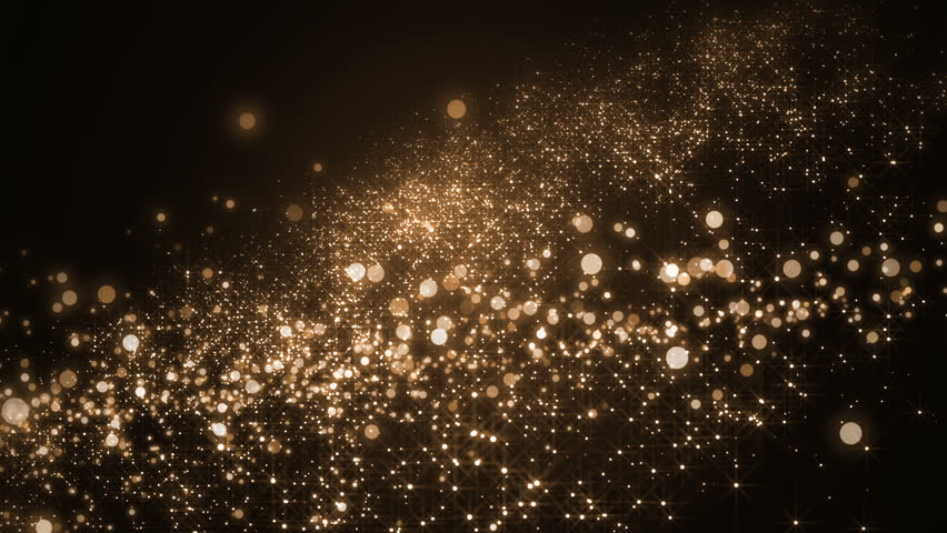 Background gold movement.Universe gold dust with stars on black background. Motion abstract of particles. VJ Seamless loop. | Shutterstock HD Video #18811460