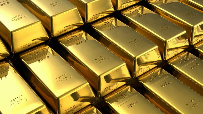 Endless loopable moving stacks of gold bars