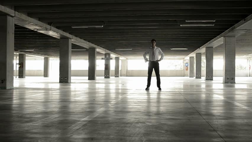 Desperate business man in underground park; Full HD Photo JPEG | Shutterstock HD Video #1884457