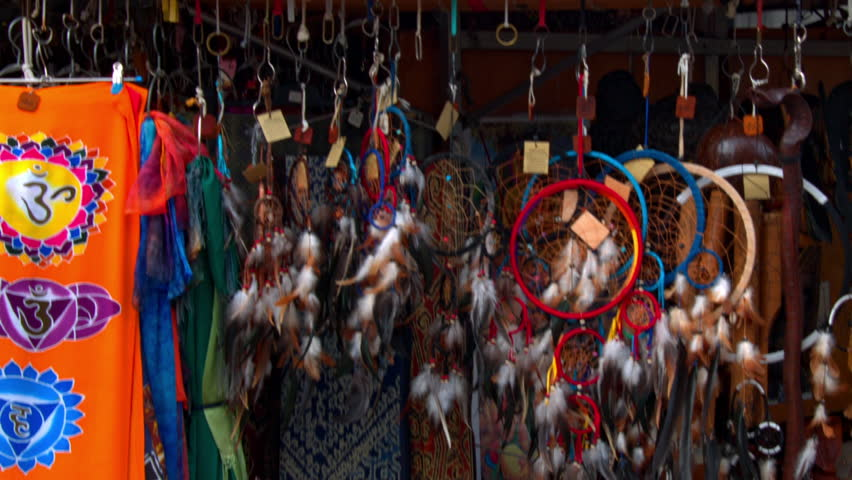 Indian amulets hanging on the market | Shutterstock HD Video #18903827