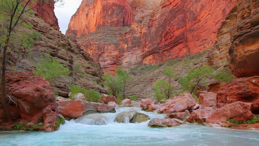 Beautiful Desert Stream in the Grand Canyon