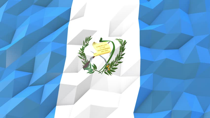 Flag Of Guatemala 3d Wallpaper Stock Footage Video 100 Royalty
