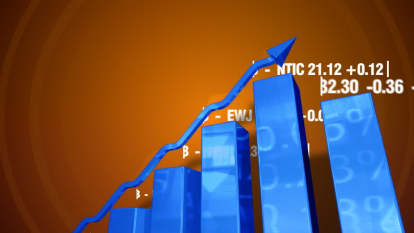 Financial figures and bar charts moving up. Stock market data animation. | Shutterstock HD Video #18992197