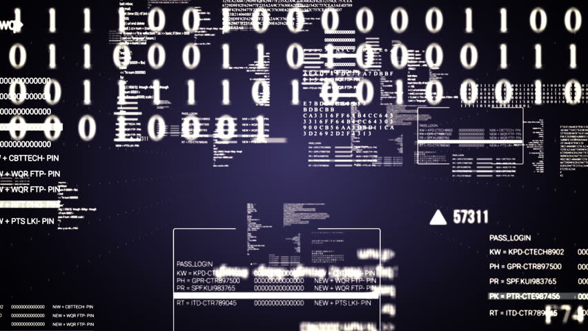 Code Text flying.Running hud text.Technological intro, screensaver  #19020217