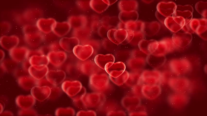 Animated HD motion background video loop - Fast moving red hearts (valentine) | Shutterstock HD Video #19068427