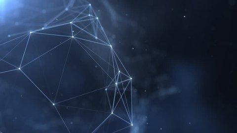 Plexus abstract network titles cinematic background