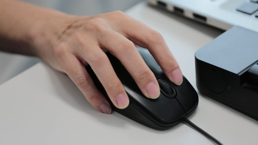 Close up of hands typing on computer keyboard and mouse with changing focus and time remap effect | Shutterstock HD Video #19126657