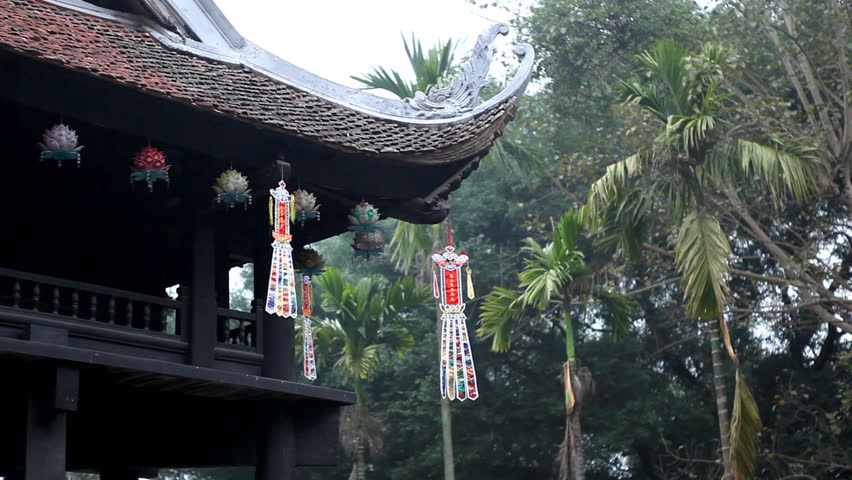 Vietnamese Buddhist Temple, The One Pillar Pagoda in Hanoi, Vietnam, Religious