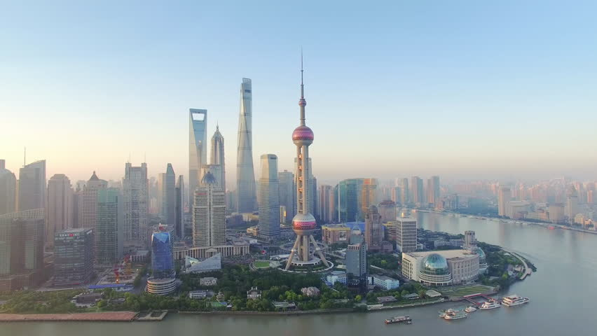 Aerial View,shanghai skyline and huangpu river | Shutterstock Video #19163779