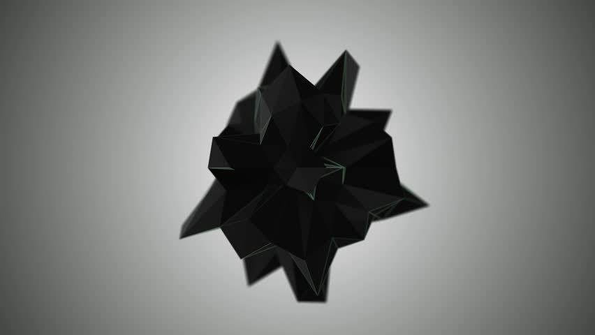 Abstract shape morphing with depth of field 3D render | Shutterstock HD Video #19164667
