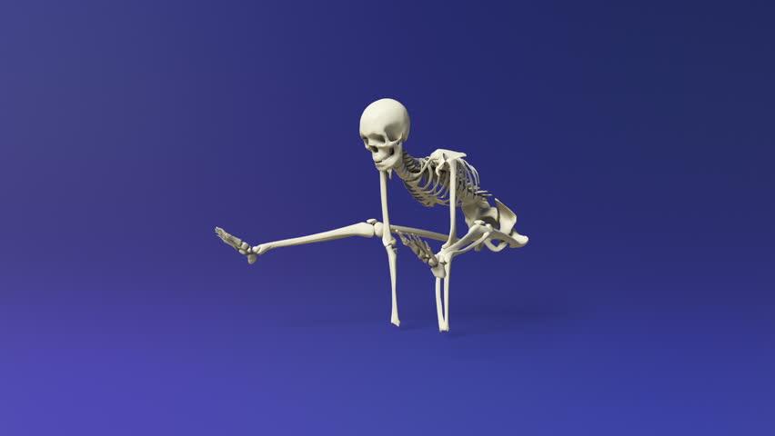 Yoga Firefly Pose Of Human Skeletal. - HD stock video clip & Cartoon Skeleton Dance/A Dancing Cartoon Skeleton. Blue Screen ... 25forcollege.com
