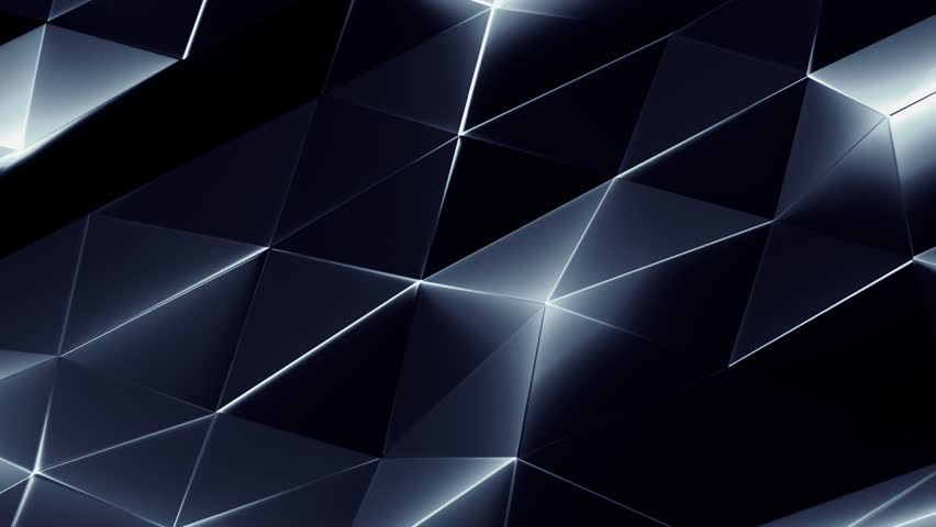 Abstract Triangle Metallic Background Random Motion, 3d Loopable Animation 4k | Shutterstock HD Video #19181236