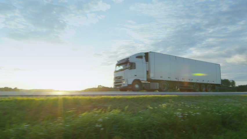 Truck Driving on Highway. | Shutterstock HD Video #19191607