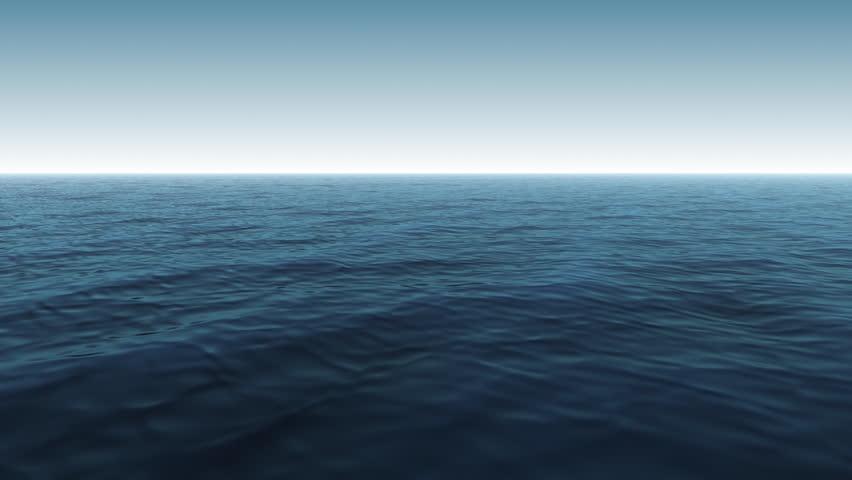 Computer Generated Blue Calm Ocean Scene #19201987