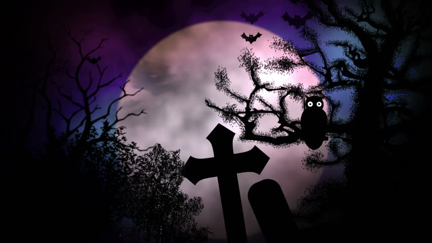 animated stylish background useful for halloweenspooky scary haunted eerie ghost - Halloween Background Video