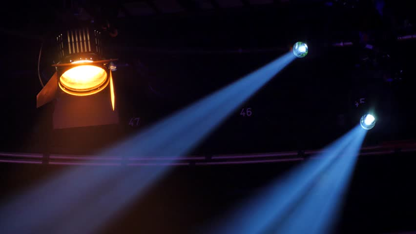 Stage Spotlights In A Huge Stock Footage Video 100 Royalty Free 19303327 Shutterstock