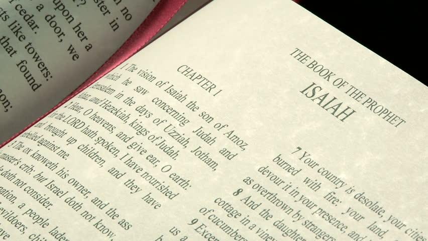 Header of Book of Isaiah