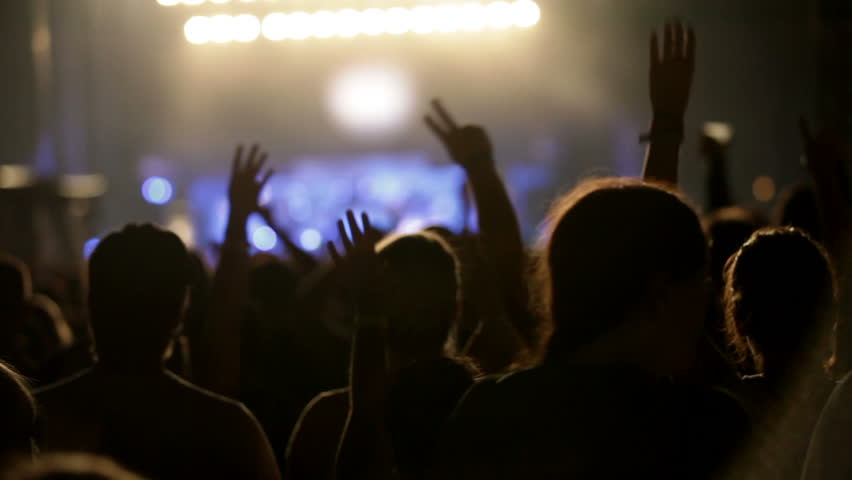 Footage of a crowd partying at a rock concert | Shutterstock HD Video #1935037